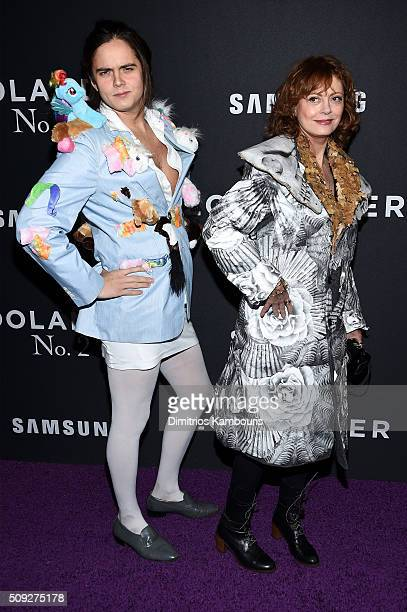 Actors Miles Robbins and Susan Sarandon attends the 'Zoolander 2' World Premiere at Alice Tully Hall on February 9 2016 in New York City