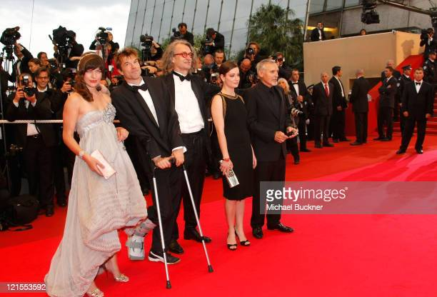 Actors Milla Jovovich Campino director Wim Wenders actress Giovanna Mezzogiorno and Dennis Hopper arrives at the 'Palermo Shooting' held at the...