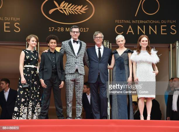 Actors Millicent Simmonds Jaden Michael Cory Michael Smith director Todd Haynes and actors Michelle Williams and Julianne Moore attend the...