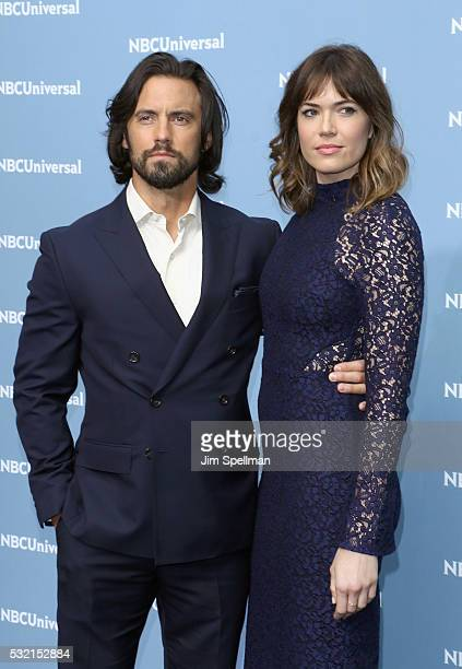 Actors Milo Ventimiglia and Mandy Moore attend the 2016 NBCUNIVERSAL Upfront at Radio City Music Hall on May 16 2016 in New York City