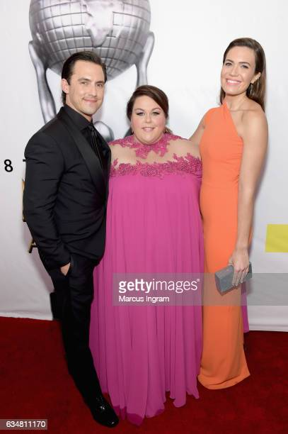 Actors Milo Ventimiglia Chrissy Metz and Mandy Moore attend the 48th NAACP Image Awards at Pasadena Civic Auditorium on February 11 2017 in Pasadena...