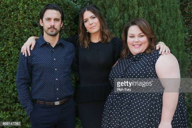 Actors Milo Ventimiglia Mandy Moore and Chrissy Metz attends The Rape Foundation's Annual Brunch on October 8 2017 in Los Angeles California