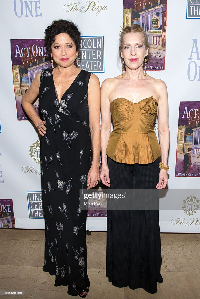 Actors Mimi Lieber and Deborah Offner attend the opening night party for 'Act One' at The Plaza Hotel on April 17, 2014 in New York City.