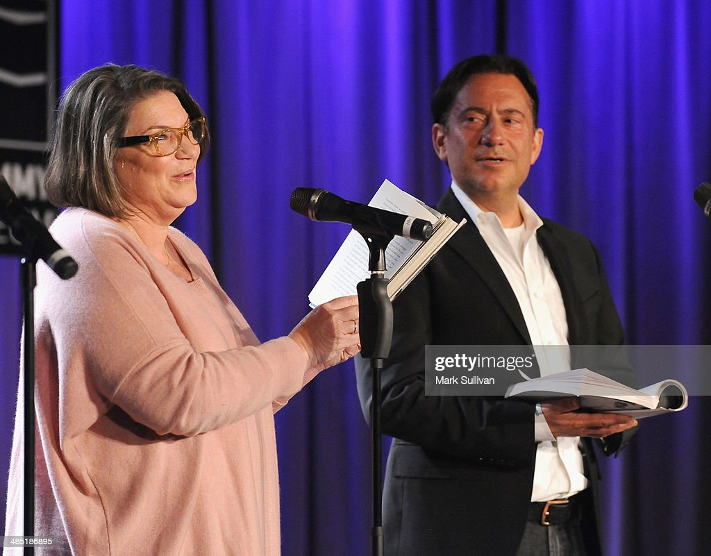 Actors Mindy Cohn and Eugene Pack during Celebrity Autobiography The Music Edition Volume 4 at The GRAMMY Museum on April 16 2014 in Los Angeles...