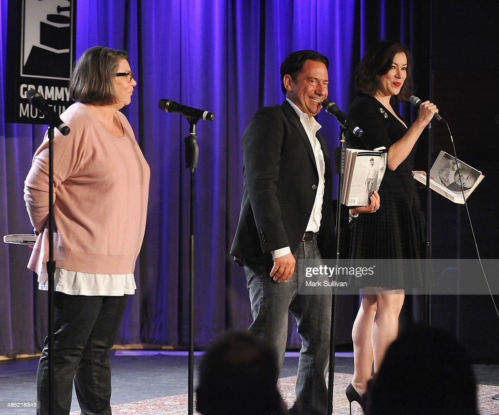 Actors Mindy Cohn Eugene Pack and Jennifer Tilly during Celebrity Autobiography The Music Edition Volume 4 at The GRAMMY Museum on April 16 2014 in...