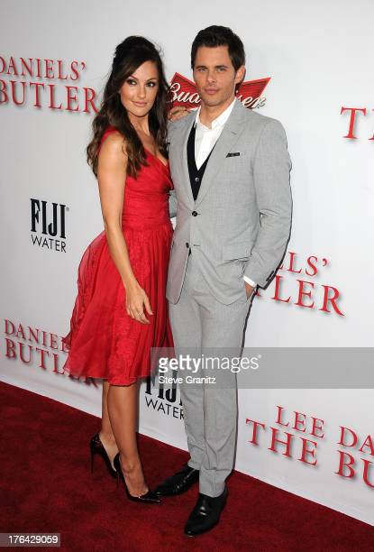 Actors Minka Kelly and James Marsden arrive at the Los Angeles premiere of 'Lee Daniels' The Butler' at Regal Cinemas LA Live on August 12 2013 in...