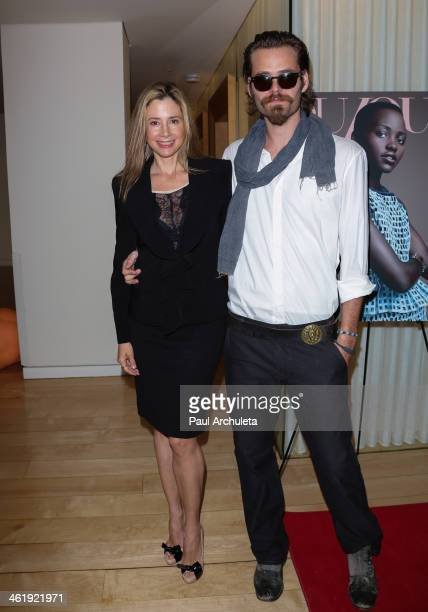 Actors Mira Sorvino and Christopher Backus attend the DuJour Magazine party celebrating the Great Performances Issue at Herringbone Mondrian LA on...