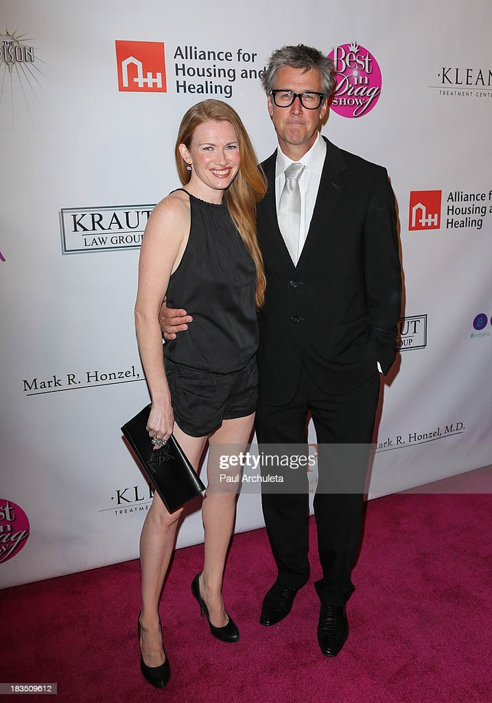 Actors Mireille Enos (L) and Alan Ruck (R) attend the 11th annual Best In Drag Show at The Orpheum Theatre on October 6, 2013 in Los Angeles, California.