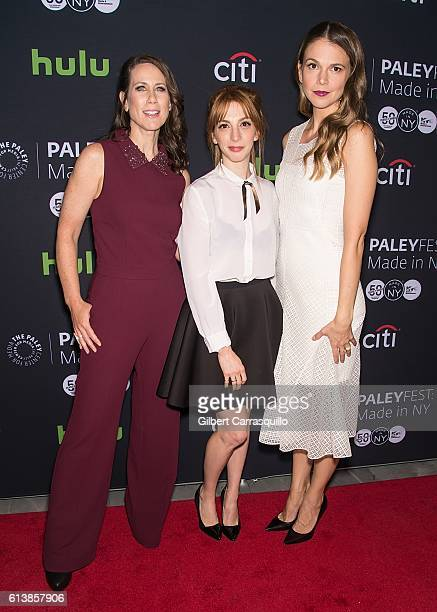 Actors Miriam Shor Molly Kate Bernard and Sutton Foster attend the PaleyFest New York 2016 screening of 'Younger' at The Paley Center for Media on...