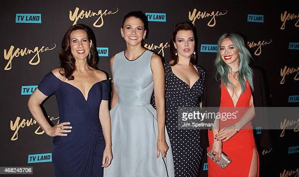 Actors Miriam Shor Sutton Foster Debi Mazar and Hilary Duff attend the premiere of TV Land's 'Younger' at Landmark's Sunshine Cinema on March 31 2015...