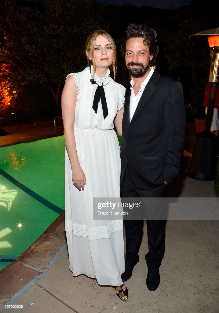 Actors Mischa Barton (L) and Sebastian Knapp attend the launch of the Seventh Annual BritWeek Festival 'A Salute To Old Hollywood' on April 23, 2013 in Los Angeles, California.