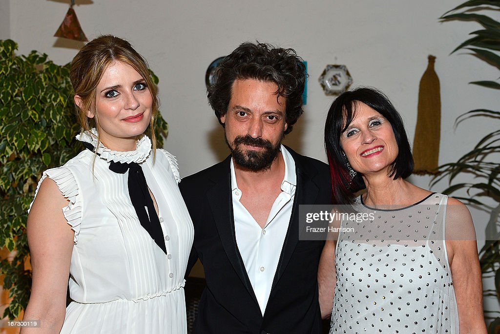 Actors Mischa Barton(L), Sebastian Knapp, and Brit Week Director Sharon Harroun Pierce attend the launch of the Seventh Annual BritWeek Festival 'A Salute To Old Hollywood' on April 23, 2013 in Los Angeles, California.