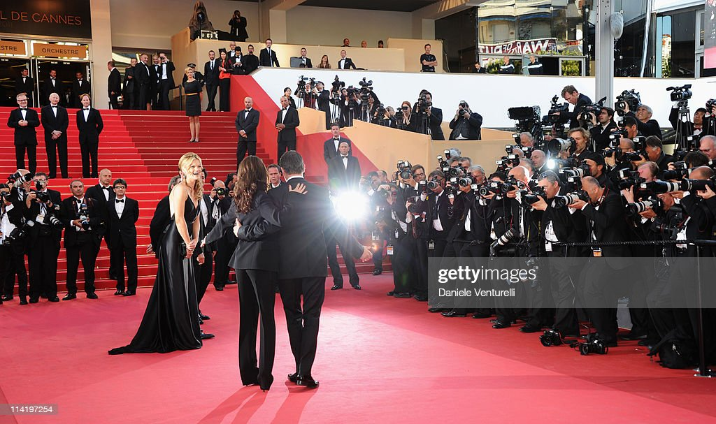 Actors Missi Pyle, Berenice Bejo and Jean Dujardin attend 'The Artist' Premiere at the Palais des Festivals during the 64th Cannes Film Festival on May 15, 2011 in Cannes, France.
