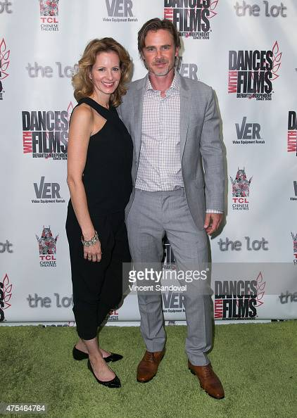 Actors Missy Yager and Sam Trammell attend the premiere of 'The Aftermath' at TCL Chinese 6 Theatres on May 31 2015 in Hollywood California