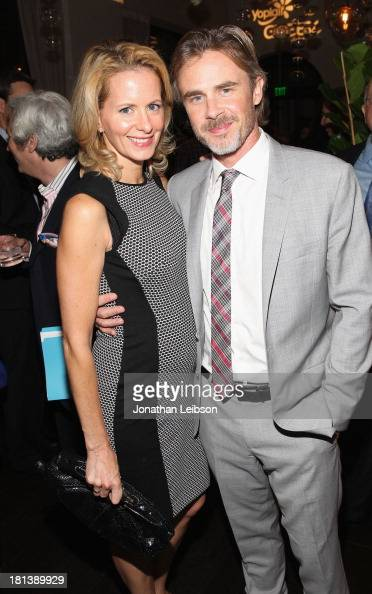 Actors Missy Yagerl and Sam Trammell attend Variety Women In Film PreEmmy Event presented by Yoplait Greek at Scarpetta on September 20 2013 in...