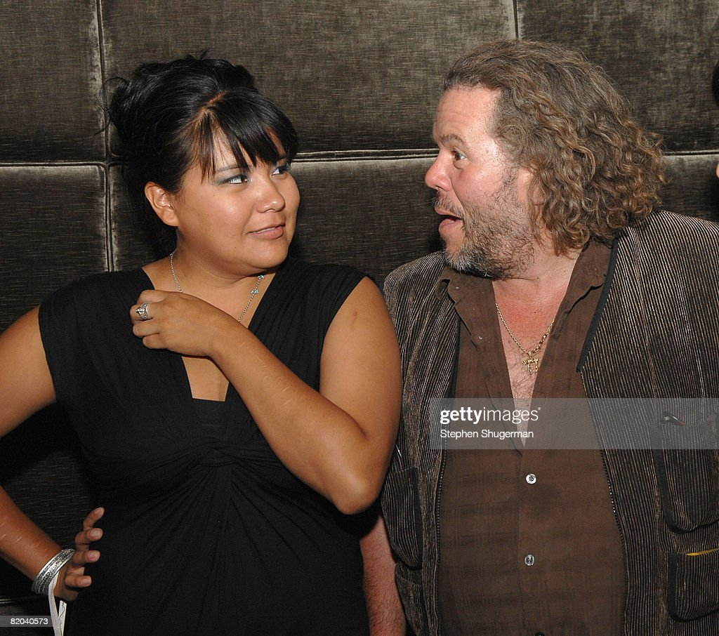 Actors <a gi-track='captionPersonalityLinkClicked' href=/galleries/search?phrase=Misty+Upham&family=editorial&specificpeople=4835047 ng-click='$event.stopPropagation()'>Misty Upham</a> (L) and Mark Boone Junior attend the after party following the premiere of Sony Pictures Classics' 'Frozen River' at the Pacific Design Center on July 22, 2008 in West Hollywood, California.