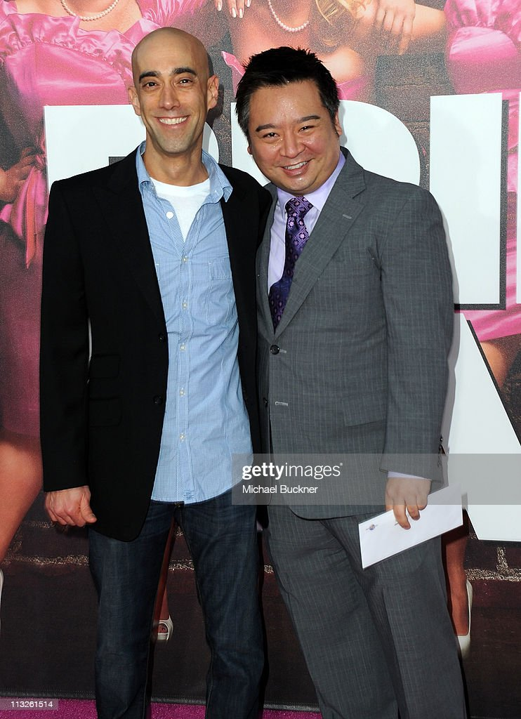 Actors Mitch Silpa and Rex Lee arrive at the Premiere of Universal Pictures' 'Bridesmaids' at the Mann Village Theatre on April 28, 2011 in Westwood, California.