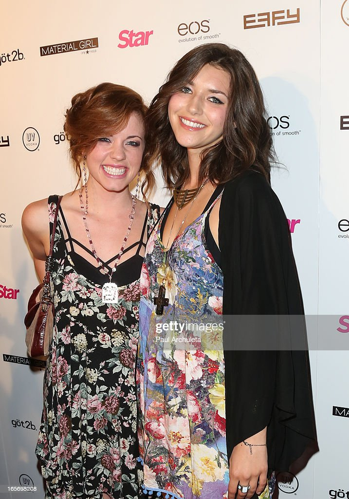 Actors Molly Burnette (L) and Melia Renee (R) attend Star Magazine's 'Hollywood Rocks' party at Playhouse Hollywood on April 4, 2013 in Los Angeles, California.
