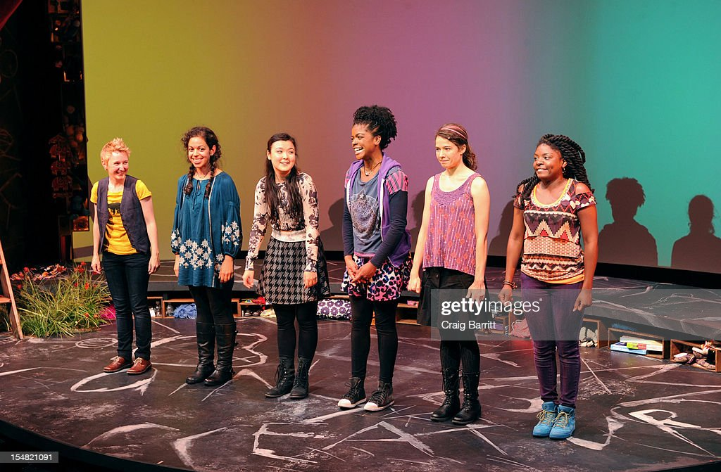 Actors Molly Carden, Olivia Oguma, Joaquina Kalukango, Emily S. Grosland, Ashley Bryant and Sade Namei attend the 'Emotional Creatures' Talkback Series at The Pershing Square Signature Center on October 26, 2012 in New York City.