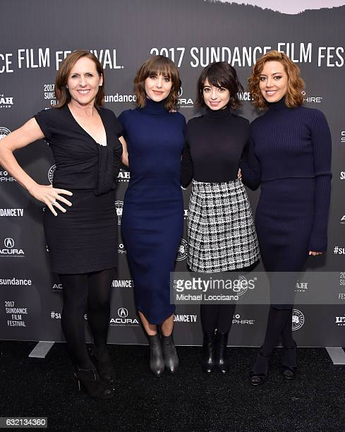 Actors Molly Shannon Alison Brie Kate Micucci and Aubrey Plaza attend 'The Little Hours' premiere during day 1 of the 2017 Sundance Film Festival at...