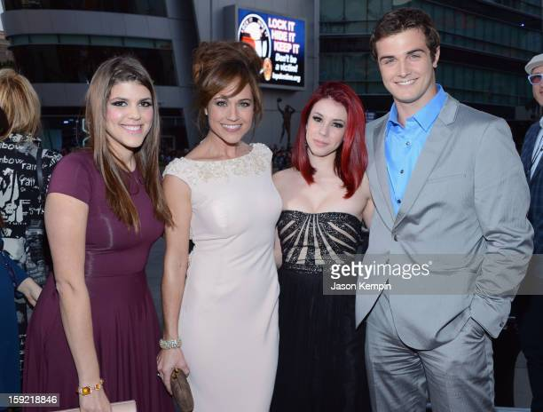Actors Molly Tarlov Nikki Deloach Jillian Rose Reed and Beau Mirchoff attend the 34th Annual People's Choice Awards at Nokia Theatre LA Live on...