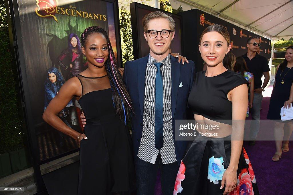 Actors Monique Coleman Lucas Grabeel and Olesya Rulin attend the premiere of Disney Channel's 'Descendants' at Walt Disney Studios on July 24 2015 in...