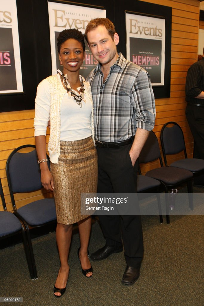 "The Cast Of ""Memphis"" On Broadway Visits Barnes & Noble - April 6, 2010"
