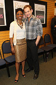 Actors Montego Glover and Chad Kimball visit Barnes Noble Lincoln Triangle with the cast of 'Memphis' on April 6 2010 in New York City