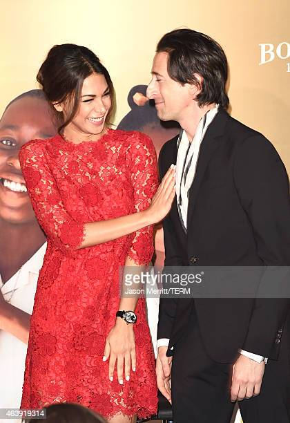 Actors Moran Atias and Adrien Brody attend the 8th annual Hollywood Domino Gala presented by BOVET 1822 benefiting Artists for Peace and Justice at...