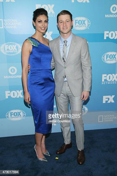 Actors Morena Baccarin and Benjamin McKenzie attend the 2015 FOX programming presentation at Wollman Rink in Central Park on May 11 2015 in New York...