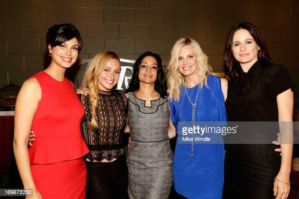 Actors Morena Baccarin Hayden Panettiere Archie Panjabi Monica Potter and Emily Mortimer attend the Variety Emmy Studio at Palihouse on May 30 2013...