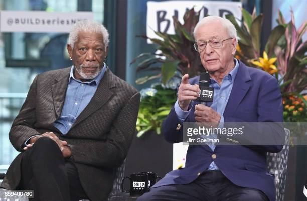 Actors Morgan Freeman and Michael Caine attend the Build series to discuss 'Going In Style' at Build Studio on March 28 2017 in New York City