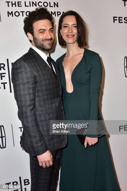 Actors Morgan Spector and Rebecca Hall attend the 2017 Tribeca Film Festival 'Permission' screening at SVA Theatre on April 22 2017 in New York City