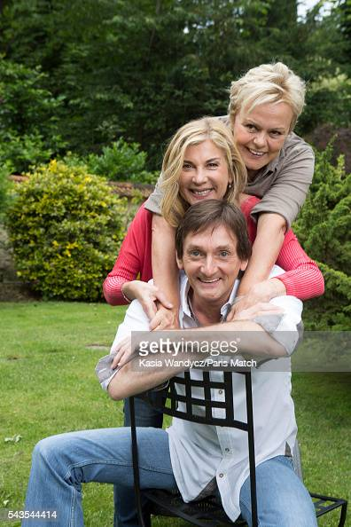 Actors Muriel Robin is photographed with Michelle Baroque and Pierre Palmade for Paris Match on June 19 2016 in RueilMalmaison France