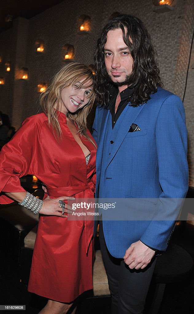 Actors Nadeea and <a gi-track='captionPersonalityLinkClicked' href=/galleries/search?phrase=Constantine+Maroulis&family=editorial&specificpeople=208875 ng-click='$event.stopPropagation()'>Constantine Maroulis</a> attend the opening night after party of 'Jekyll & Hyde' held at Beso on February 10, 2013 in Hollywood, California.