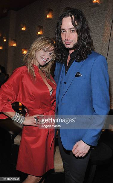 Actors Nadeea and Constantine Maroulis attend the opening night after party of 'Jekyll Hyde' held at Beso on February 10 2013 in Hollywood California