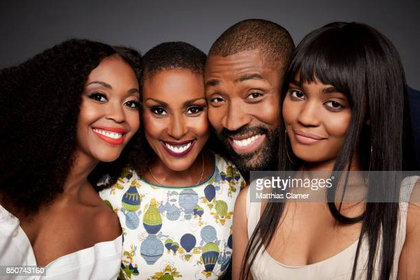 Actors Nafessa Williams Christine Adams Cress Williams and China Anne McClain from Black Lightning are photographed for Entertainment Weekly Magazine...