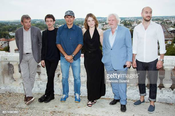 Actors Nahuel Perez Biscayart Director Albert Dupontel actors Emilie Dequenne Niels Arestrup and Kyan Khojandi attend the 10th Angouleme...