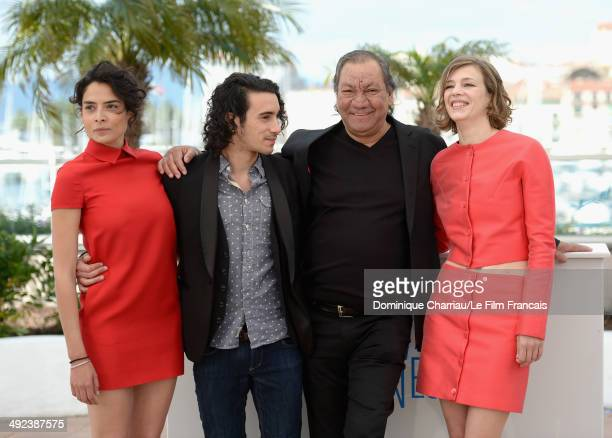 Actors Nailia Harzoune Rachid Youcef director Tony Gatlif and actress Celine Sallette attend the 'Geronimo' photocall at the 67th Annual Cannes Film...