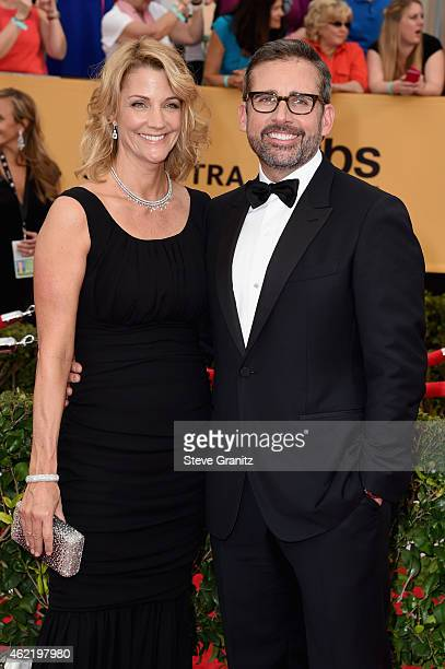Actors Nancy Carell and Steve Carell attend the 21st Annual Screen Actors Guild Awards at The Shrine Auditorium on January 25 2015 in Los Angeles...