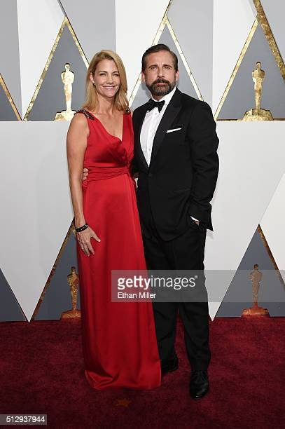 Actors Nancy Carell and Steve Carell attend the 88th Annual Academy Awards at Hollywood Highland Center on February 28 2016 in Hollywood California