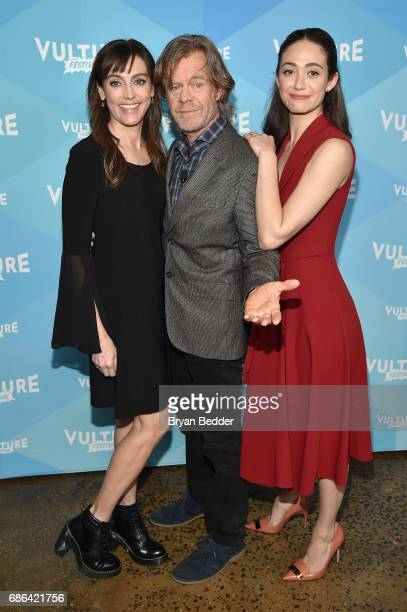Actors Nancy Pimental William H Macy and Emmy Rossum attend the 2017 Vulture Festival at Milk Studios on May 21 2017 in New York City