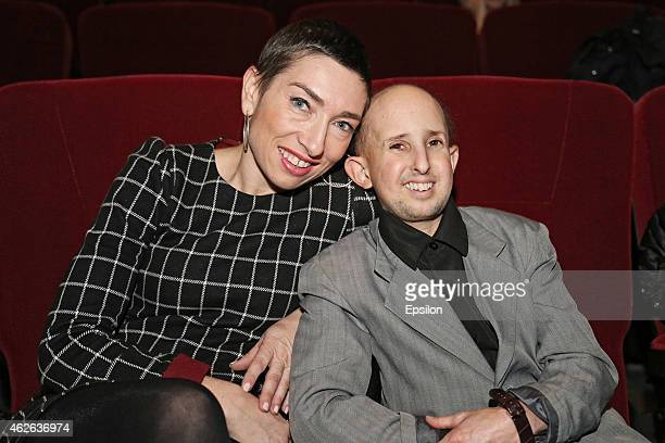 Actors Naomi Grossman and Ben Woolf attend 5th Russian International Horror Film Awards 'KAPLYA' at Vegas Entertainment Centre on February 1 2015 in...