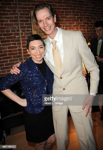 Actors Naomi Grossman of American Horror Story Freakshow and Doug Jones of Falling Skies at 2015 Saturn Award Nominations for the 31st Annual show to...
