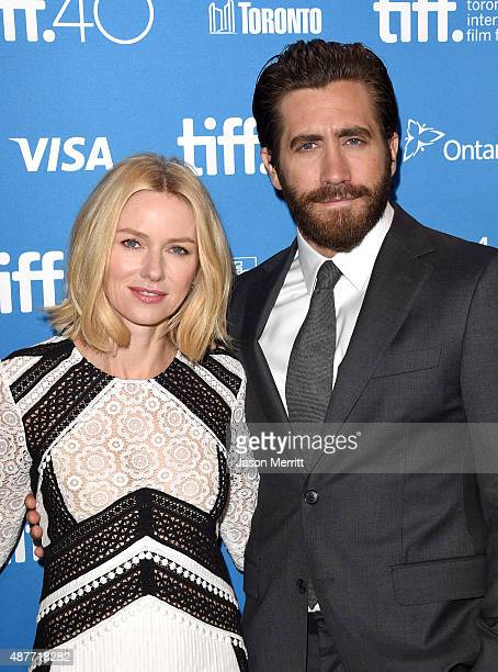 Actors Naomi Watts and Jake Gyllenhaal attend the 'Demolition' press conference at the 2015 Toronto International Film Festival at TIFF Bell Lightbox...