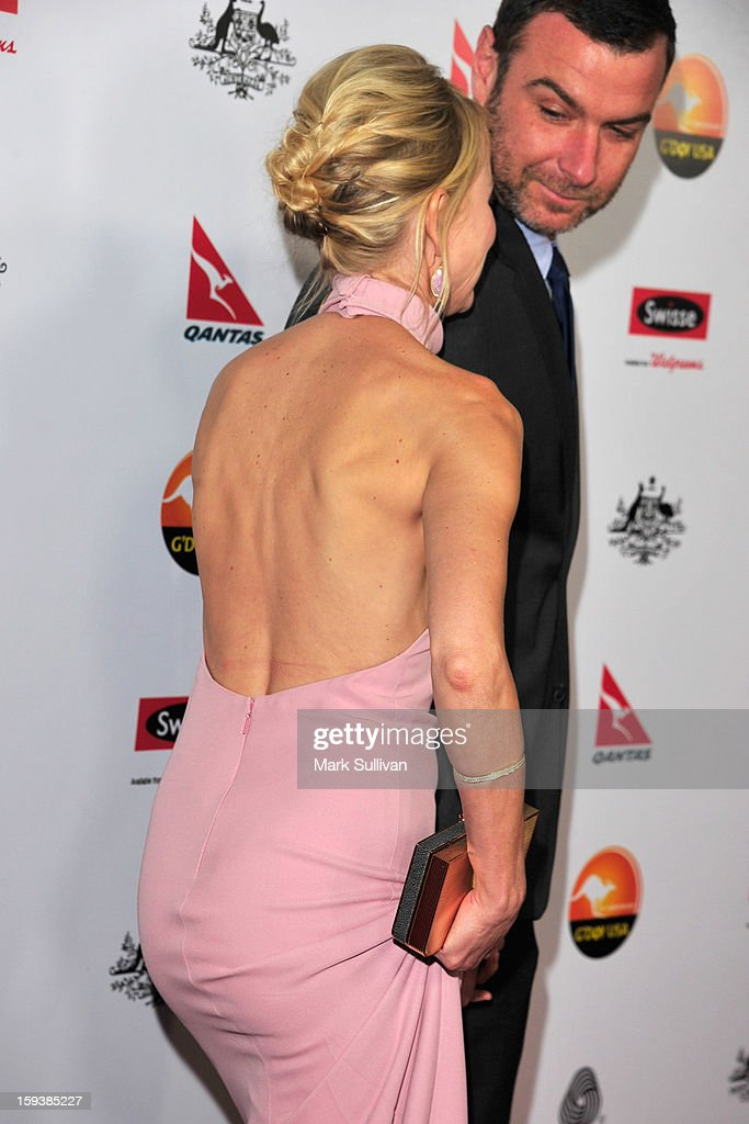 Actors Naomi Watts and Liev Schreiber arrive for the G'Day USA Black Tie Gala held at at the JW Marriot at LA Live on January 12, 2013 in Los Angeles, California.
