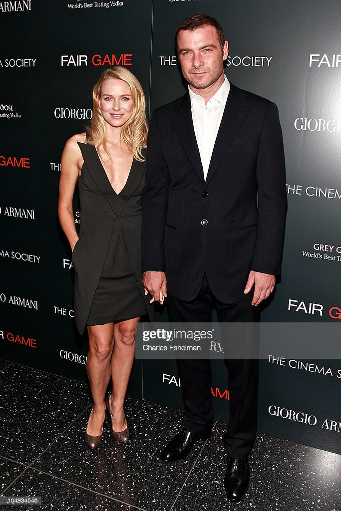 Actors Naomi Watts and Liev Schreiber attend Giorgio Armani & The Cinema Society's screening of 'Fair Game' at The Museum of Modern Art on October 6, 2010 in New York City.