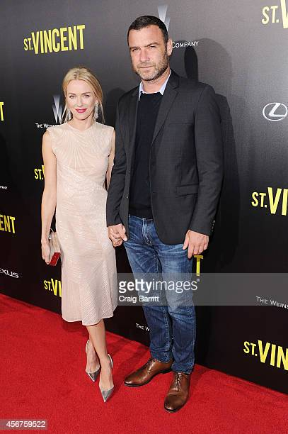 Actors Naomi Watts and Liev Schreiber attend the premiere of ST VINCENT hosted by the Weinstein Company with Lexus on October 6 2014 in New York City