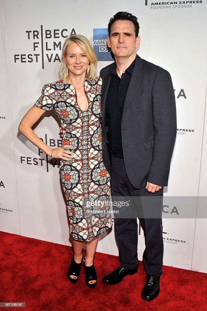 Actors <a gi-track='captionPersonalityLinkClicked' href=/galleries/search?phrase=Naomi+Watts&family=editorial&specificpeople=171723 ng-click='$event.stopPropagation()'>Naomi Watts</a> and Matt Dillion attend the 'Sunlight Jr.' World Premiere during the 2013 Tribeca Film Festival on April 20, 2013 in New York City.
