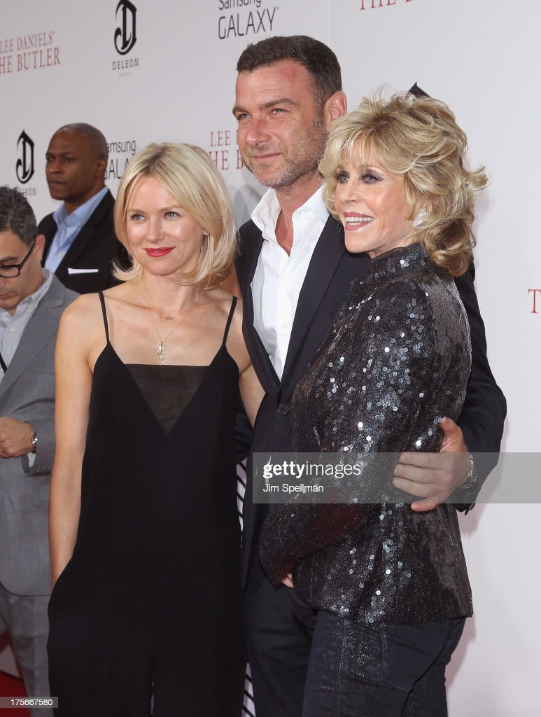 Actors Naomi Watts, Liev Schreiber and Jane Fonda attend Lee Daniels' 'The Butler' New York Premiere at Ziegfeld Theater on August 5, 2013 in New York City.